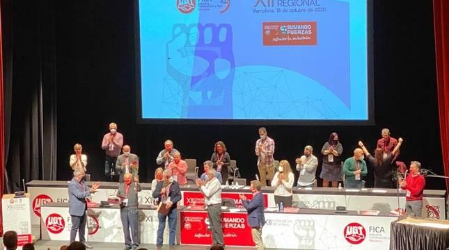 Un momento del XII Congreso Regional de FICA-UGT celebrado en Pamplona.