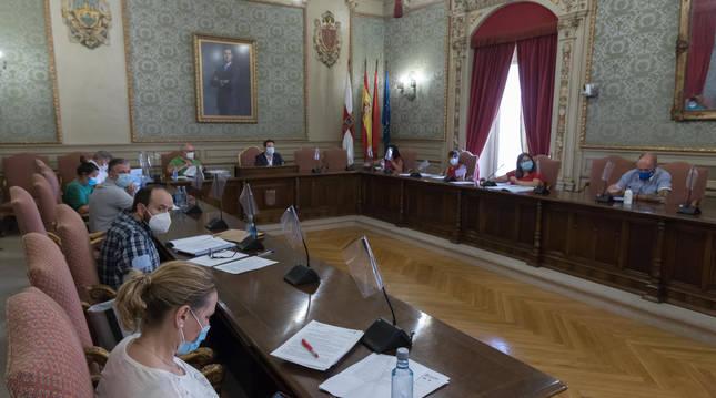 Imagen de uno de los últimos plenos del Ayuntamiento.