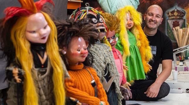 La Bruja Avería y los electroduendes de La Bola de Cristal, marionetas icónicas de la televisión española de los años ochenta.