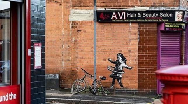 Imagen de la última creación de Banksy