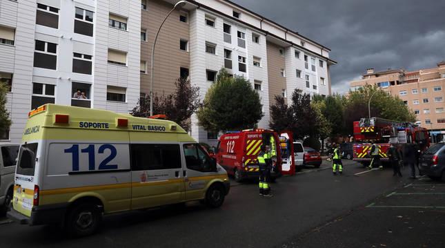 Incendio en la calle Cultura de Barañáin.