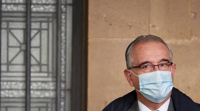 Foto del alcalde de Pamplona, Enrique Maya, este martes en Pamplona.