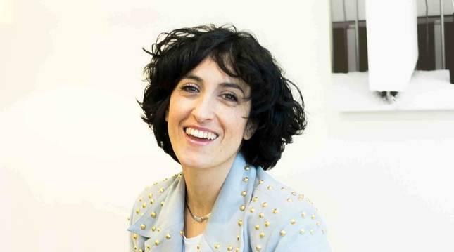 La diseñadora Desirée Arellano Galarreta, natural de Corella y afincada en Pamplona desde hace veinte años.