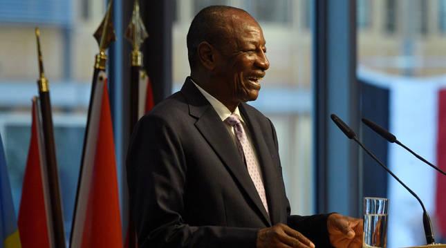 Foto de Alpha Condé, presidente de Guinea.