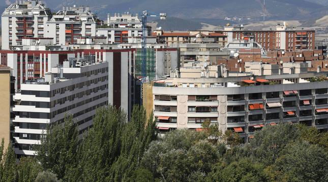 Foto genérica de viviendas en Pamplona.