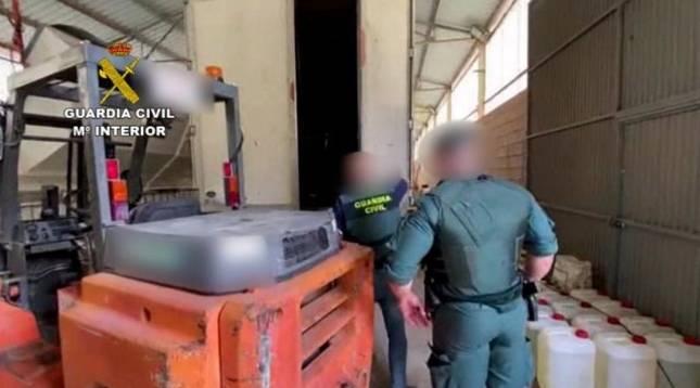 Foto de una operación de la Guardia Civil en Málaga.
