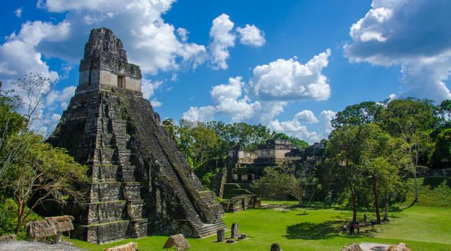 La ciudad maya de Tikal, en el norte de Guatemala.