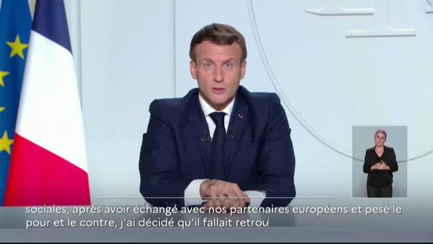 Vídeo: Macron anuncia la vuelta al confinamiento en toda Francia desde el viernes