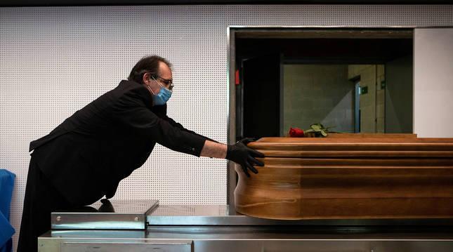 Cremación realizada el pasado mayo en un tanatorio de Girona.