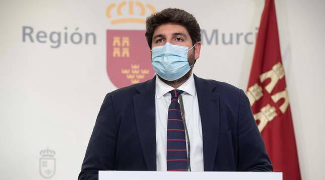 Foto de Fernando López Miras, presidente del Gobierno de Murcia.