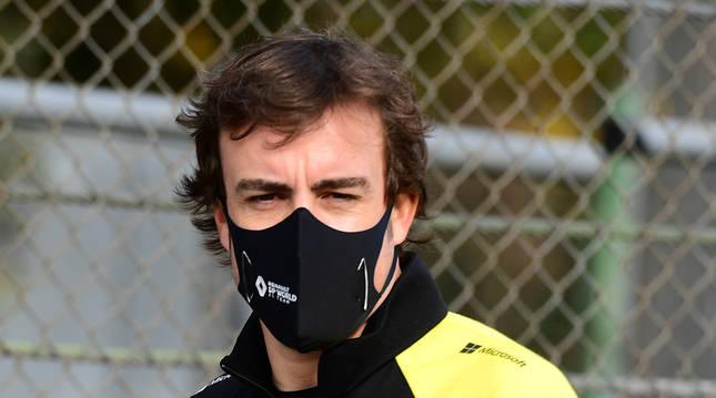 Fernando Alonso en el Grand Prix Emilia Romagna.