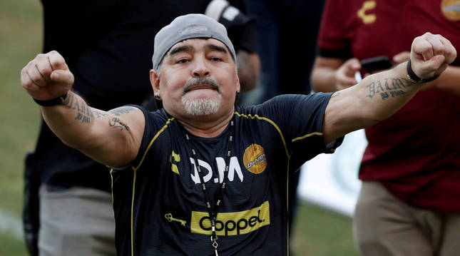 Foto de Diego Armando Maradona.