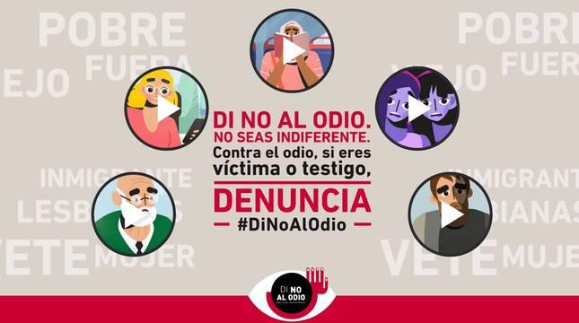 Foto de la página web de la campaña 'Di no al odio'.