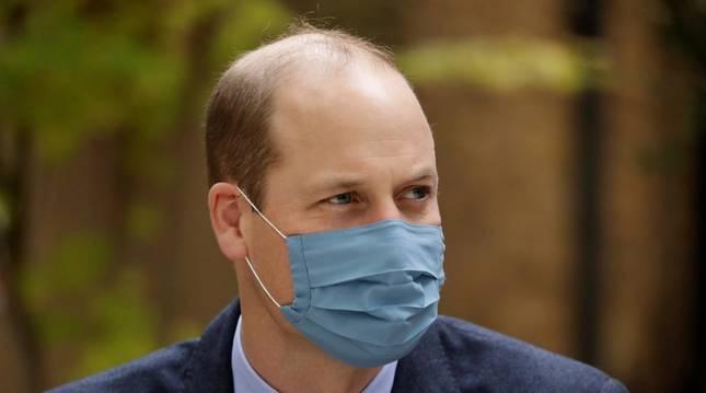 Foto del príncipe Guillermo, durante una visita en un hospital en Londres, a finales de octubre.