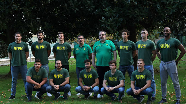 La plantilla del primer equipo de Waterpolo Navarra, participante en la actual Liga Premaat.