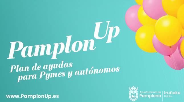 Foto del cartel de la campaña de 'PamplonUp'.