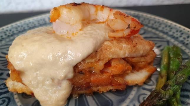 Esta merluza rellena de txangurro es una de las tres recetas de La Rinconada de Lorenzo de hoy