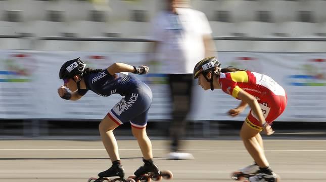 Campeonato europeo de patinaje de velocidad en Antoniutti en agosto de 2019.