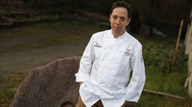 Foto del cocinero navarro David Yárnoz.