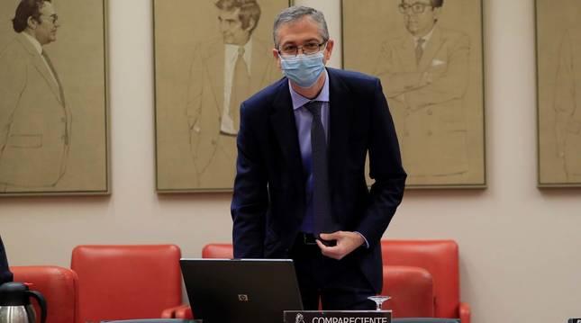 Foto de Pablo Hernández de Cos, gobernador del Banco de España.