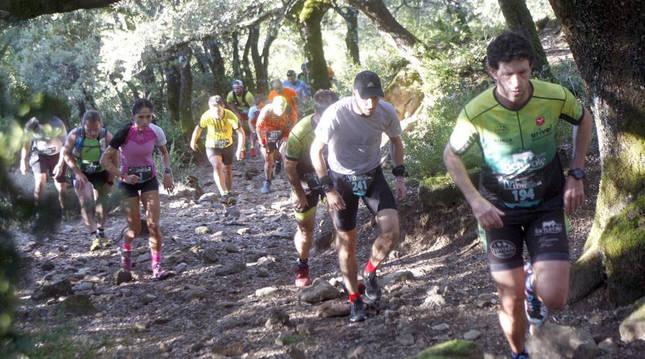 Foto de la carrera por montaña Juan Miguéliz Leyre Trail (Navarra).