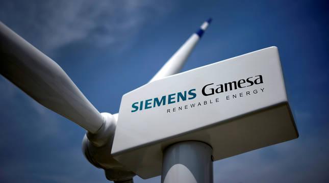 Un aerogenerador de Siemens Gamesa.