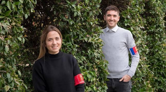Foto de Yolanda y Roberto Martil, el pasado viernes en el Parque de los Sentidos de Noáin.