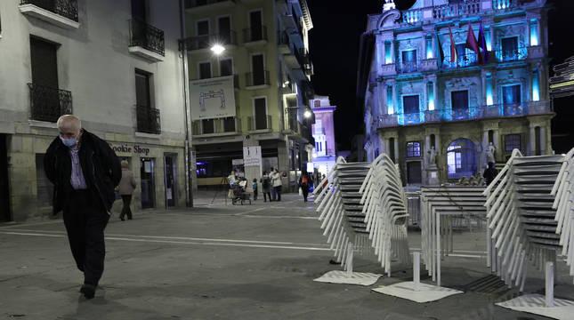 El cierre de la hostelería ha dejado semivacías las calles desde hace dos semanas y media.