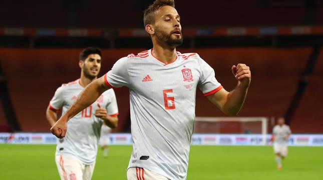 Sergio Canales el único gol de la selección española.
