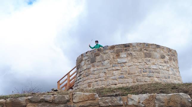 Desde la reconstruida Torre del Homenaje se obtienen unas espléndidas vistas de la Comarca.