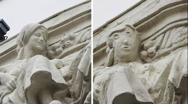 Antes y después del 'Ecce Homo' palentino.