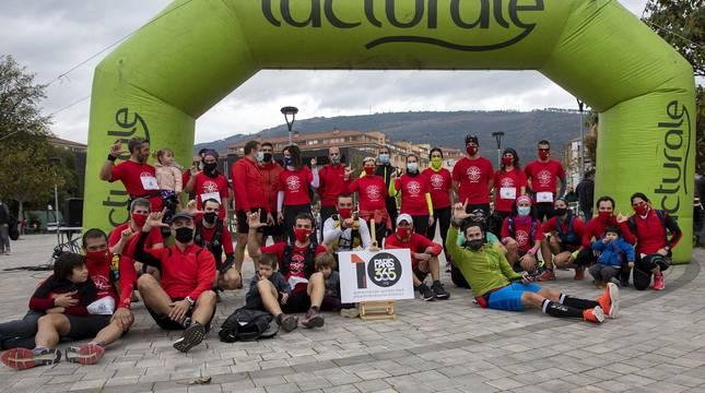 Decenas de corredores en las maratones solidarias A los Cuatro Vientos en Berriozar