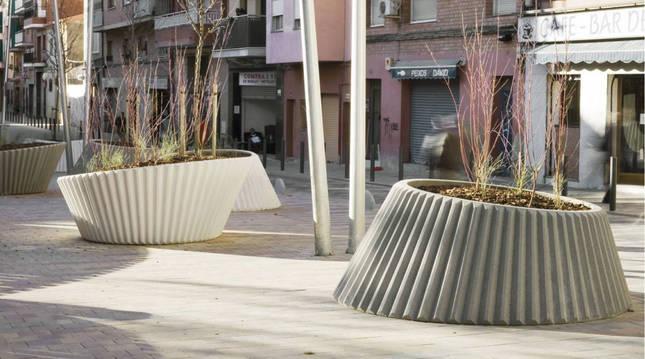 Foto del modelo de jardineras que se instalarán en el barrio de la Milagrosa.