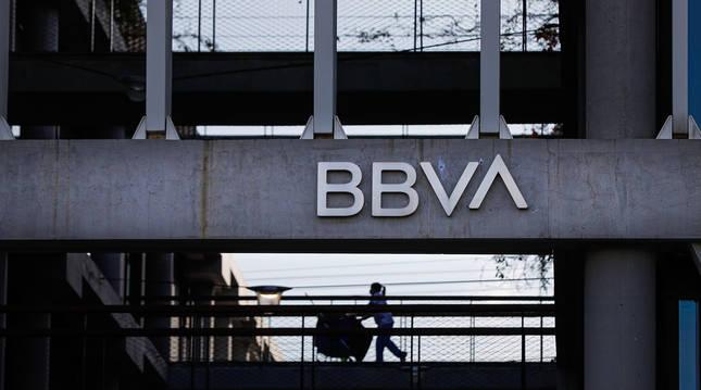 Foto de la sede corporativa del BBVA, en el distrito de Las Tablas en Madrid.