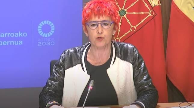 Santos Induráin, durante la rueda de prensa.