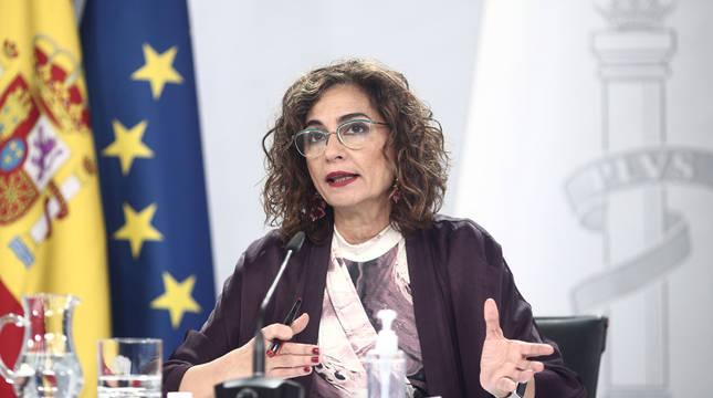 María Jesús Montero, durante la rueda de prensa posterior al Consejo de Ministros.