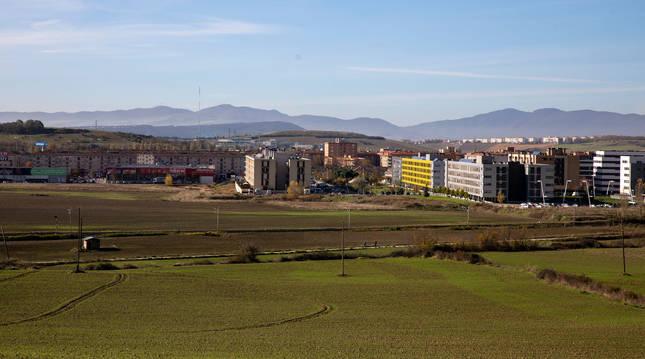 Aspecto de la zona de Etxebakar, en las inmediaciones de Berrioplano donde se proyecta la urbanización