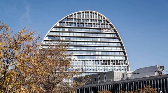 Foto de la Ciudad BBVA, sede corporativa del Grupo Banco Bilbao Vizcaya Argentaria en España.