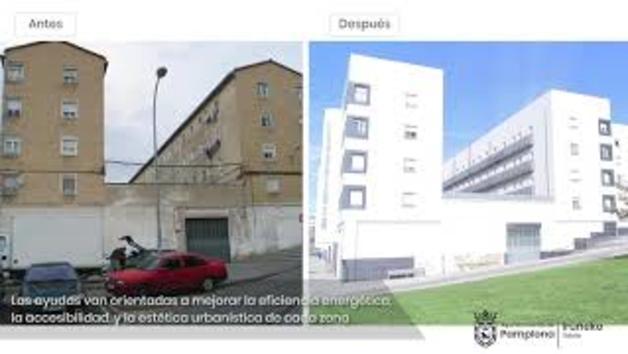 Rehabilitación en tres edificios de San Jorge y Grupo Urdánoz