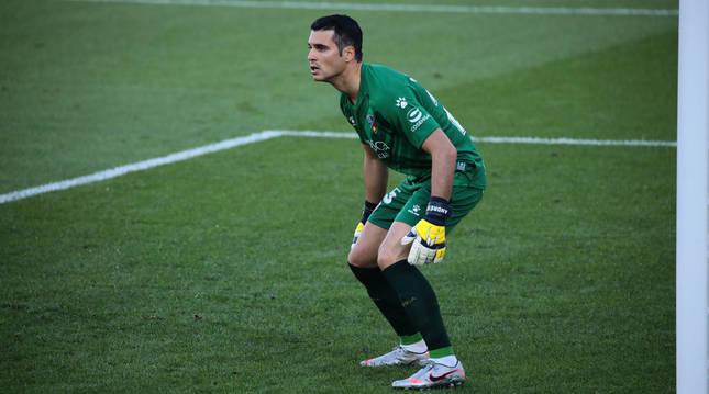 Andrés Fernández, esta temporada defendiendo la portería del Huesca.