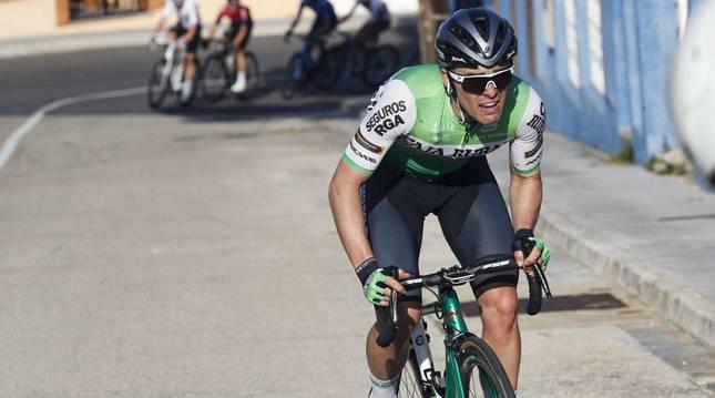 Gonzalo Serrano, durante una etapa de la Vuelta a España