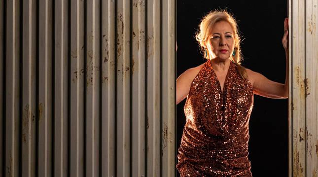 Carmen Machi, en una escena de Prostitución. El montaje, estrenado el pasado enero en el Teatro Español de Madrid, está de gira desde octubre.