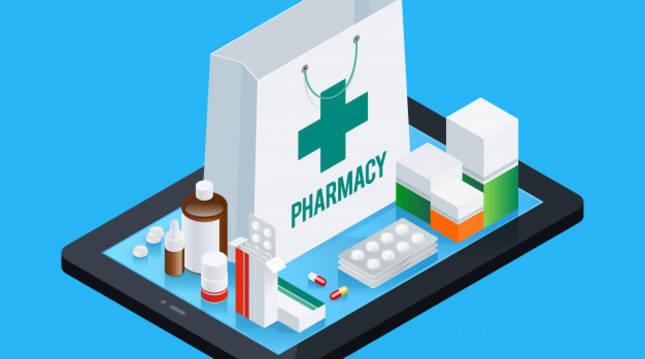 Imagen de una bolsa de farmacia y varios medicamentos