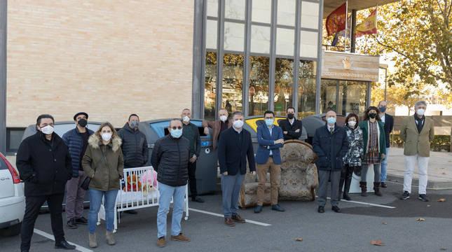 Imagen de los asistentes a la presentación de la campaña celebrada ayer en la sede de la Mancomunidad de la Ribera en Tudela.