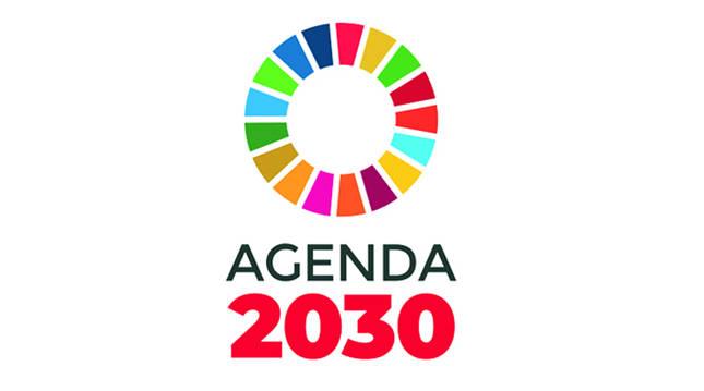 Logotipo de la iniciativa Agenda 2030 de la que forma parte el Ayuntamiento de Pamplona.