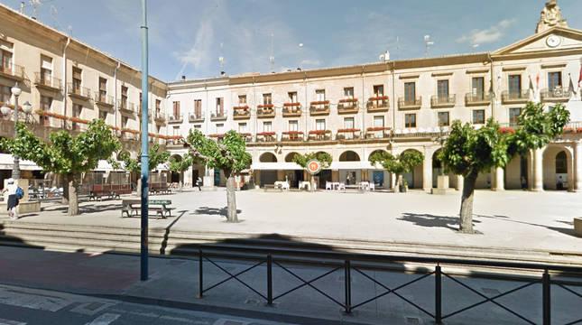 Plaza Francisco de Navarra de Tafalla.