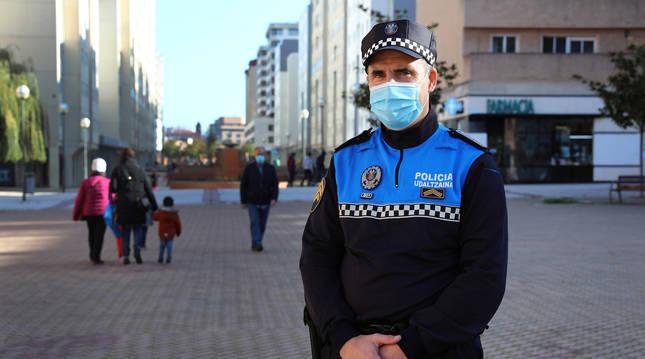 Foto de Carlos Eransus Virto, jefe de Policía Municipal de Barañáin.