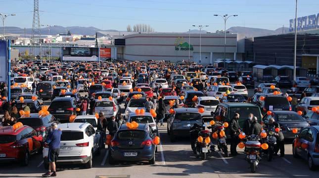 Manifestación de protesta contra la ley Celaá en Pamplona