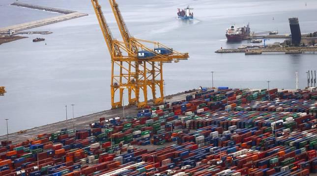 Foto del puerto de Barcelona