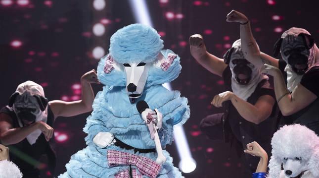 Caniche, durante una una actuación de 'Mask Singer España'